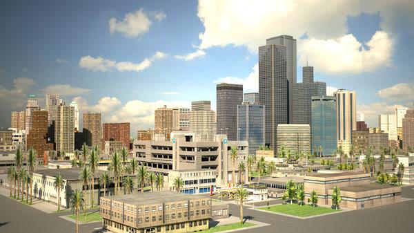 city building los angeles 3d model