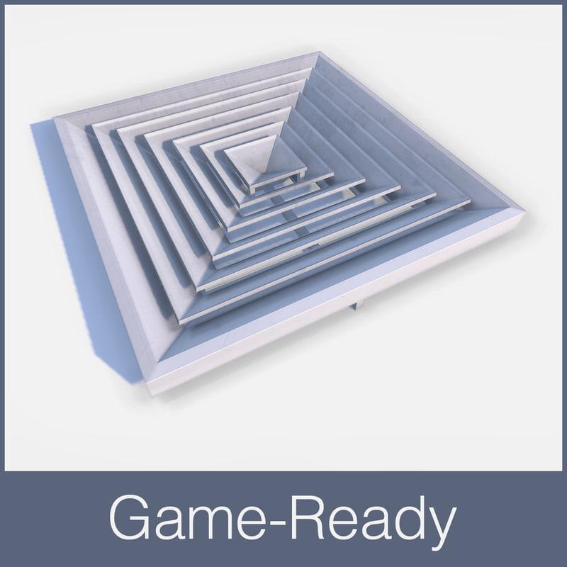 ready ceiling air vent 3d model
