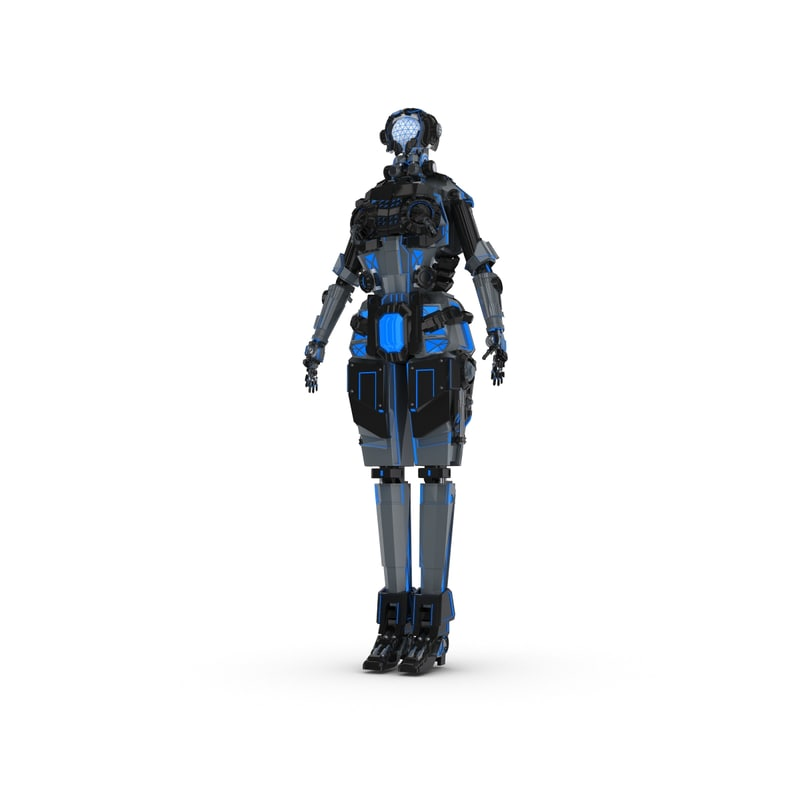 3ds sci-fi female character 1