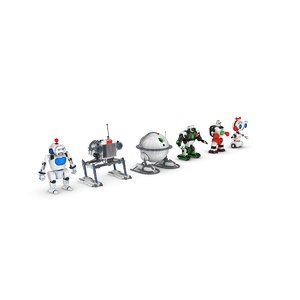 3d model funny robot characters pack