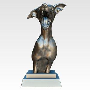 3ds max dog statue