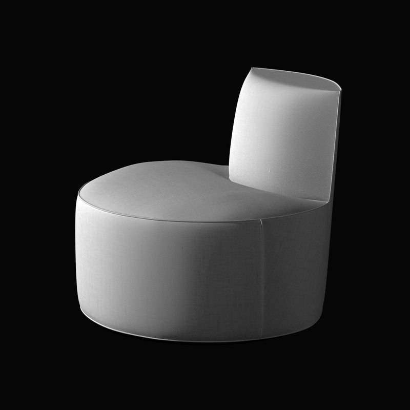 3d chair baobab tacchini rounded