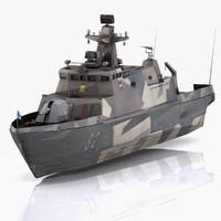 missile boat hamina 3d model