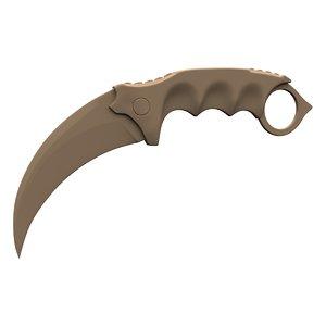 karambit knife printing 3d fbx