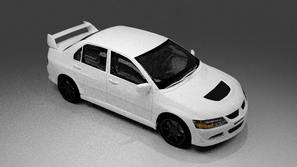 mitsubishi lancer evo ix 3d model