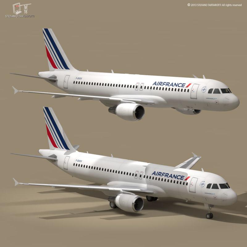 3d model a320-200 air france airbus a320
