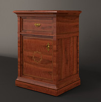 italian classic night table 3d model