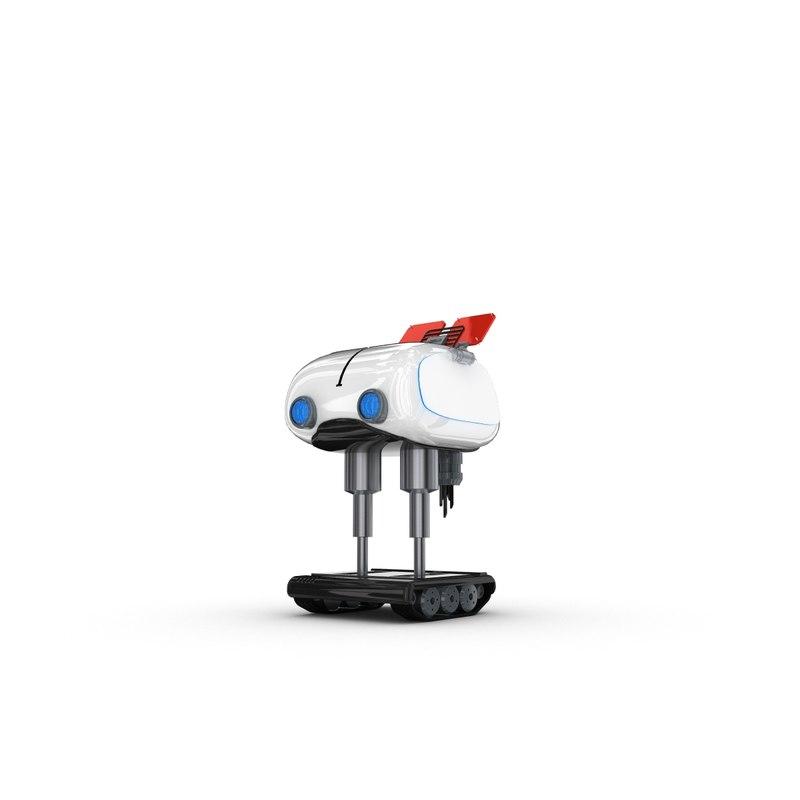 funny robotic character max
