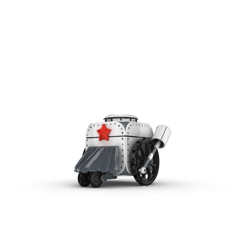 funny robotic character 3d model