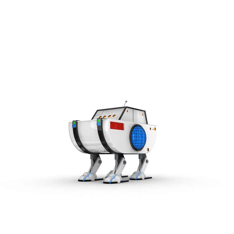 funny robotic character 3ds