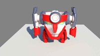 lagann anime gurren 3d model