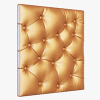 3d model capitone panel leather