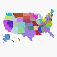 USA 3D Map