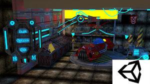 3d garage gar model