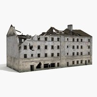Ruined Building World War 2 WW2 06