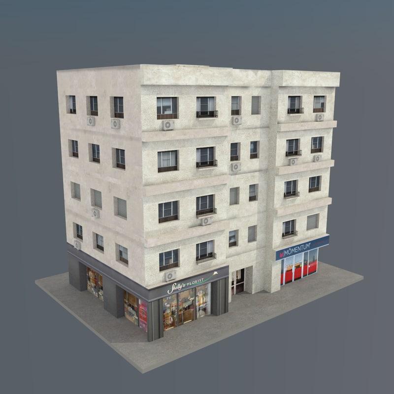 3d building v01 model