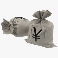 c4d money bag yen