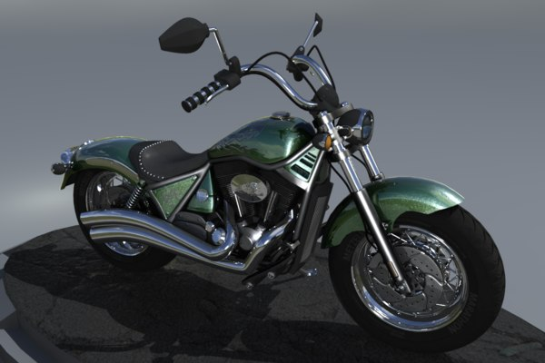 3d generic styled motorcycle model