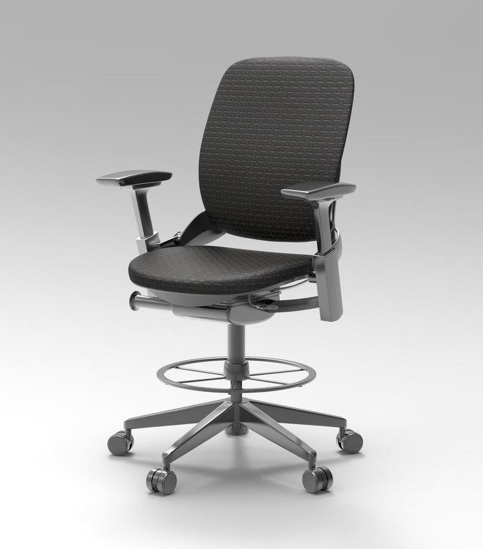 chair office 3d obj