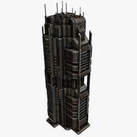 sci fi building 3d max