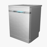 dishwasher samsung waterwall 3d model