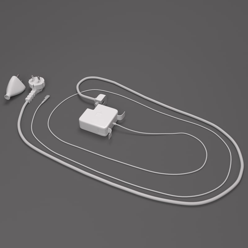 apple charger 3d model