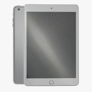 ipad mini 3 silver 3d model