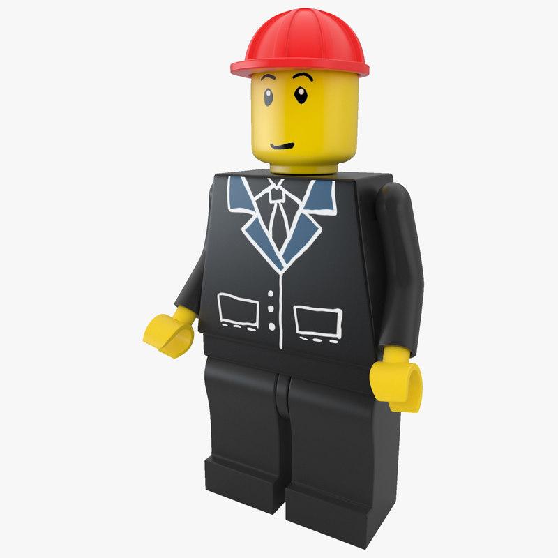 3d lego man arch model