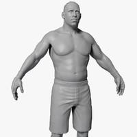 UFC Boxer High Poly