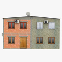 3d poor duplex house