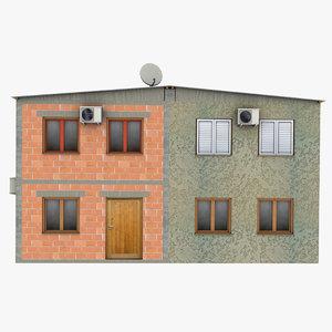 3d poor duplex house