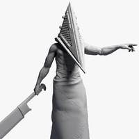 Pyramid Head 2 Sculpture