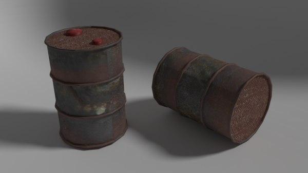 free fbx mode metal barrel -