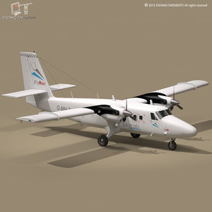 dhc6 twin otter 3d dxf