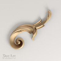 3d max carved scroll cnc