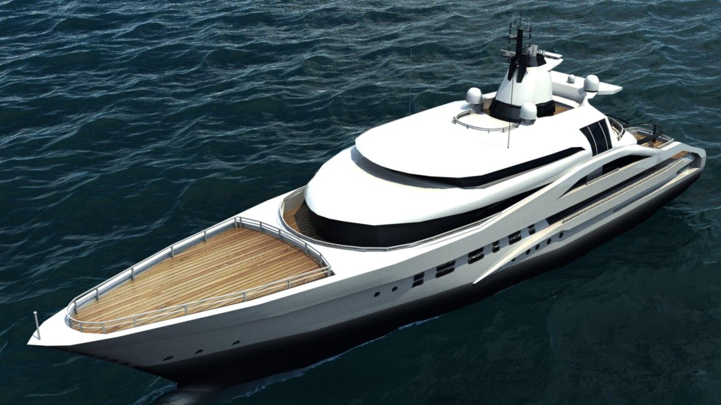 3d model palladium yacht