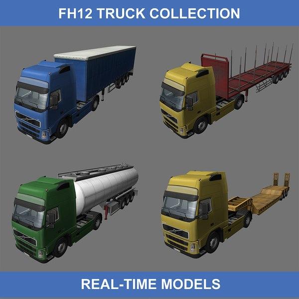 fh12 trucks semi 3d max