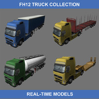 fh12 trucks semi 3d max