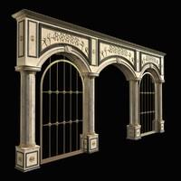 collonade colonnade columns obj