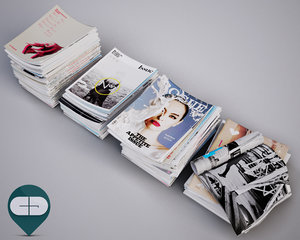 3d stack magazines model