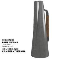 3d teapot designer paul evans model