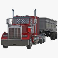 max semi dump trailer truck