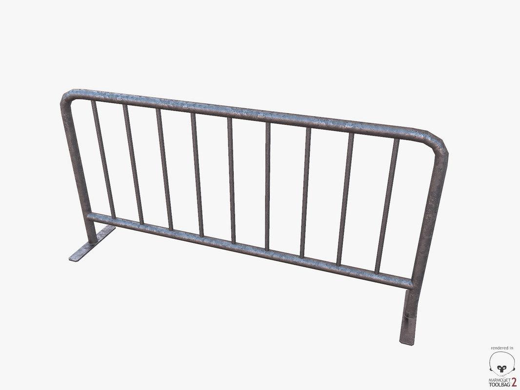 free obj mode metal barrier pbr