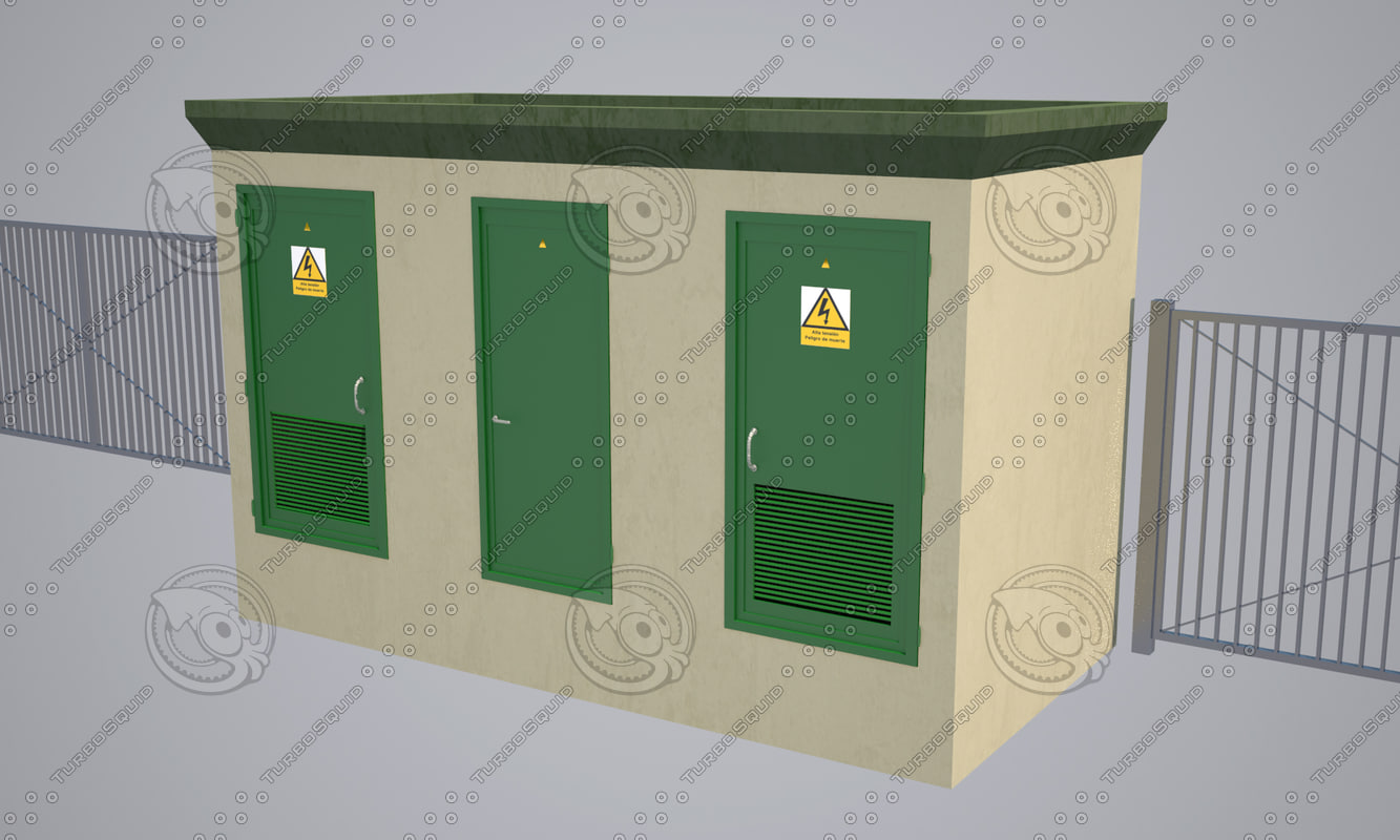 3d electric substation model