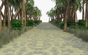 3ds max tropical path scene