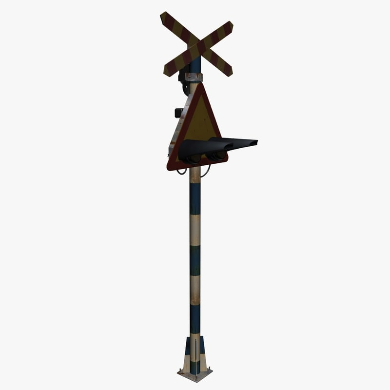 3d railroad crossing signal model