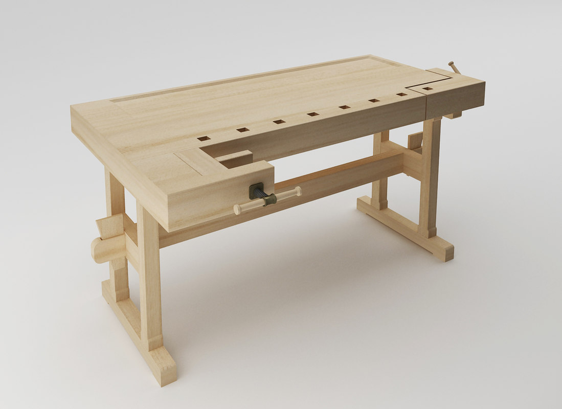 carpentry bench 3d 3ds