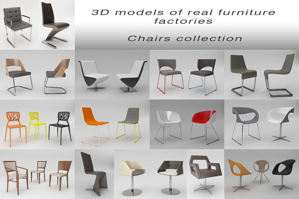 real furniture factories 3d model