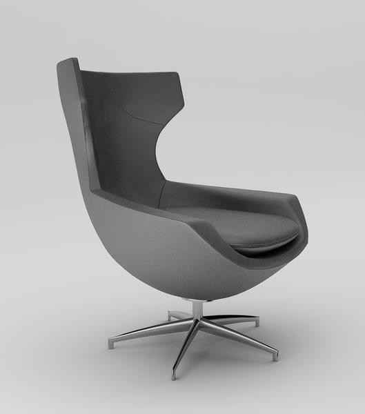 3d leolux caruzzo armchair model