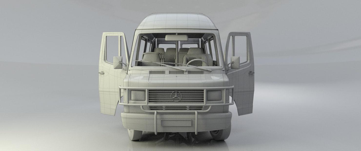 3d car mersedes-benz-309d